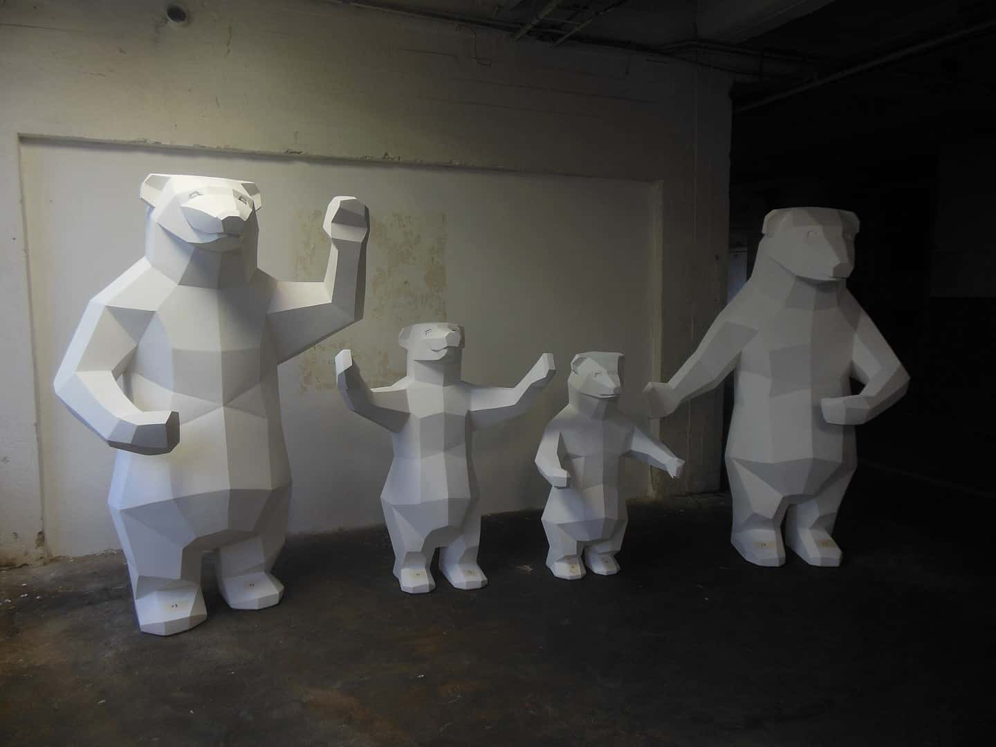statues of bears, olympic games sochi 2014,